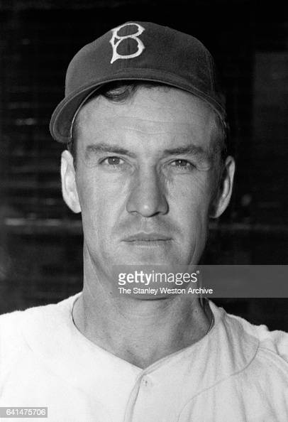 Portrait of shortstop baseball player Arky Vaughan of the Brooklyn Dodgers circa 1942