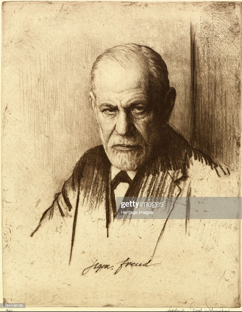 Portrait of Sigmund Freud (1856-1939), 1926. Found in the collection of the Sigmund Freud Museum, Vienna.