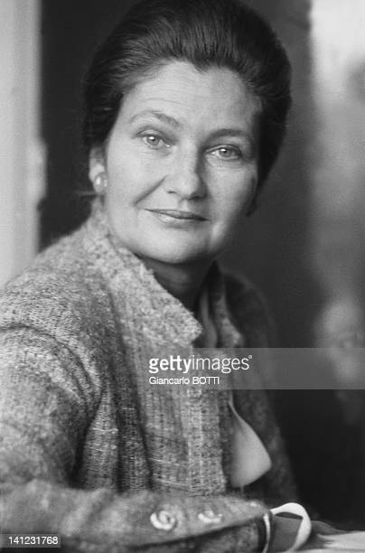 A portrait of Simone Veil during 1979 in France