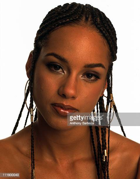 Portrait of singer Alicia Keys New York 2001