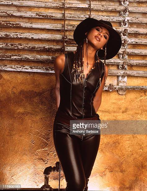 Portrait of singer Alicia Keys New York 2001