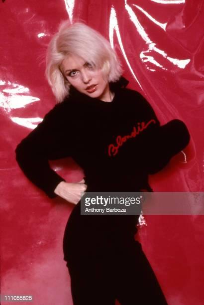 Portrait of singer Debbie Harry of American punk rock band Blondie in New York late twentieth century