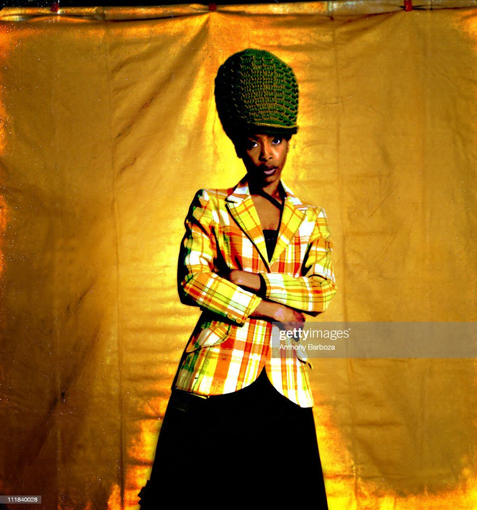 Portrait of singer Erykah Badu, New York, 2000.