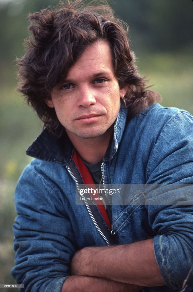 Portrait of singer John Cougar Mellencamp taken near Bloomington, Indiana.