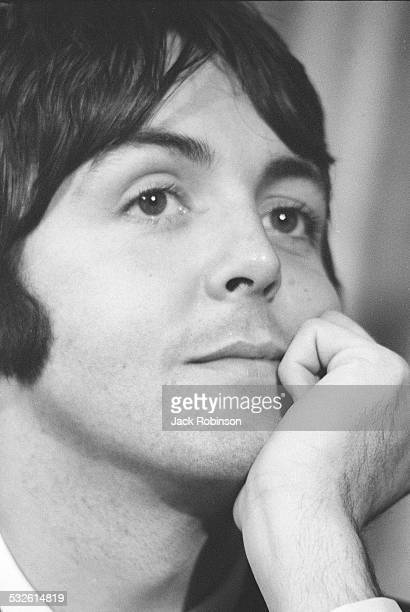 Portrait of singer Paul McCartney of the Beatles late 1960s or early 1970s