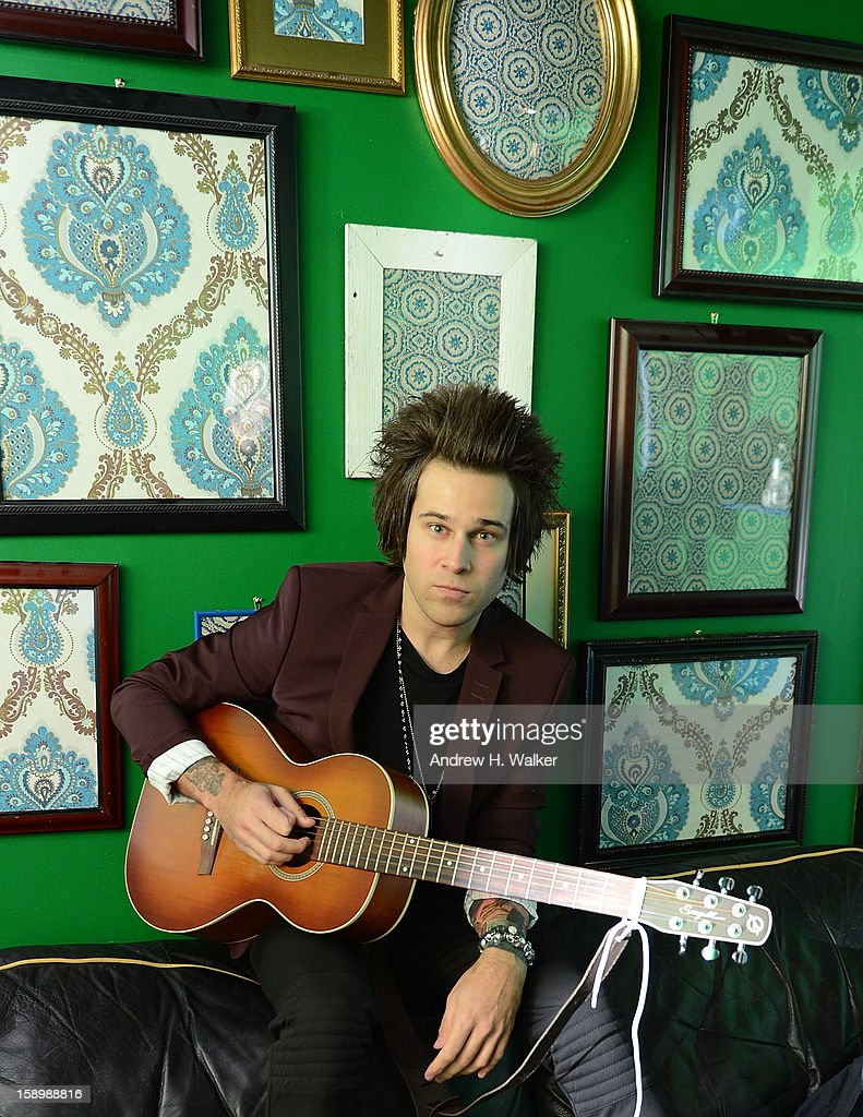 Portrait of singer <a gi-track='captionPersonalityLinkClicked' href=/galleries/search?phrase=Ryan+Cabrera&family=editorial&specificpeople=201482 ng-click='$event.stopPropagation()'>Ryan Cabrera</a> backstage at his concert at the Gramercy Theatre on January 4, 2013 in New York City.