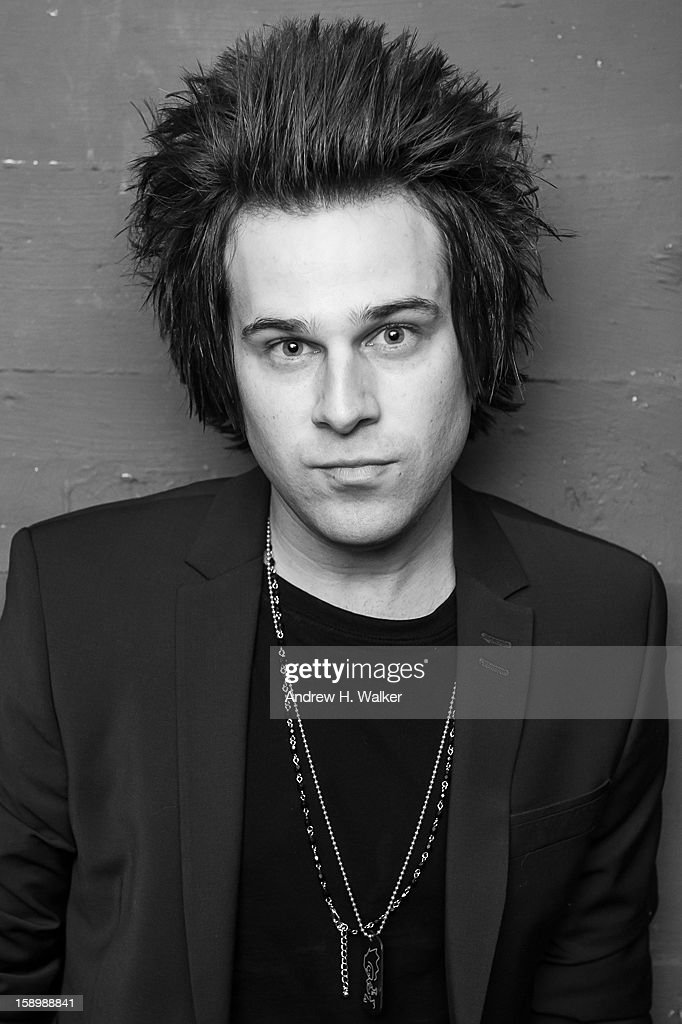 Portrait of singer Ryan Cabrera backstage at his concert at the Gramercy Theatre on January 4, 2013 in New York City.