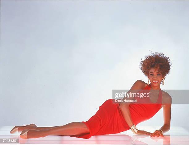 Portrait of singer Whitney Houston