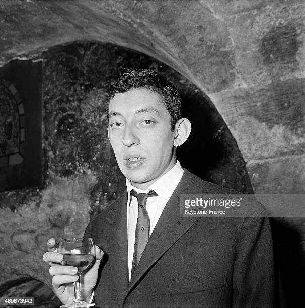 Portrait of singersongwriter Serge Gainsbourg in Paris France in March 1960