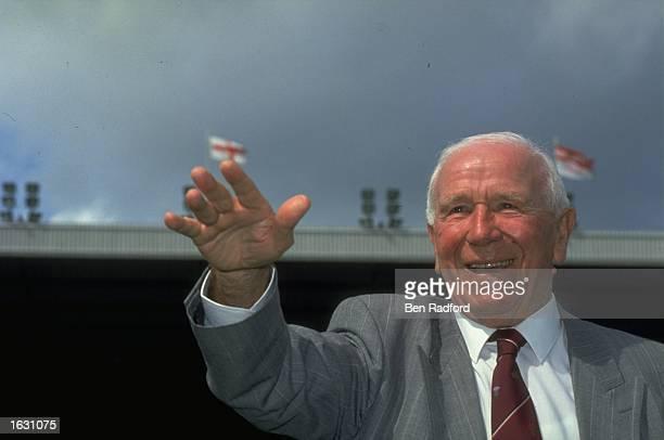 Portrait of Sir Matt Busby Mandatory Credit Ben Radford/Allsport