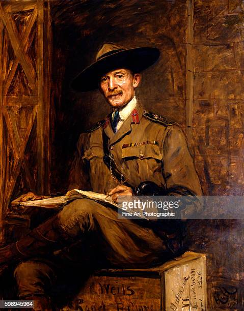 Portrait of Sir Robert BadenPowell founder of the Boy Scouts