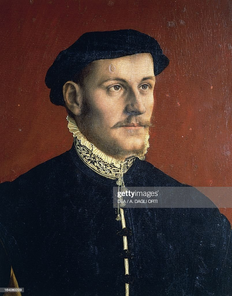 Portrait of Sir Thomas More Renaissance humanist English lawyer philosopher author Painting by the workshop of Hans Holbein the Younger Florence...