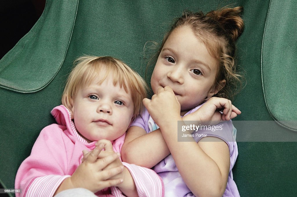 Portrait of sisters : Stock Photo