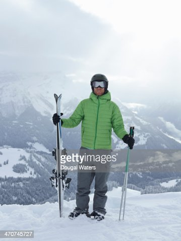 Portrait of skier in The Alps.