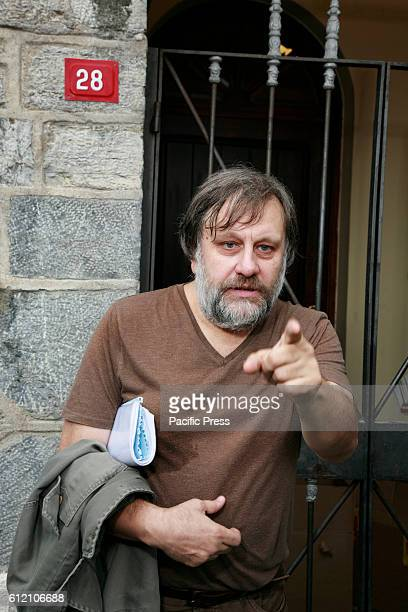 Portrait of Slavoj Zizek He is a Slovenian psychoanalytic philosopher cultural critic and Hegelian Marxist His books include Living in the End Times...