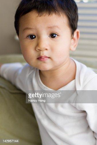 Portrait of small boy : Stock Photo