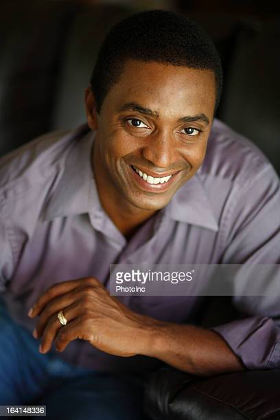 Portrait of smiling african american man