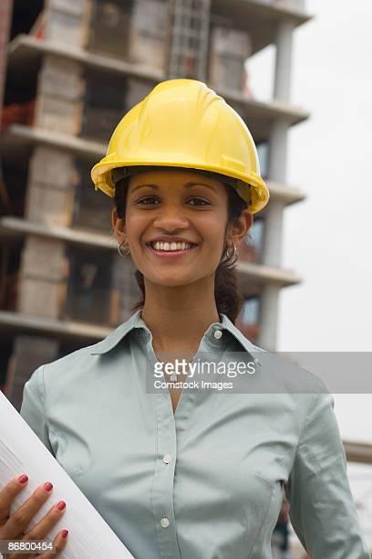 Portrait of smiling architect