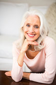 Portrait of smiling, beautiful senior lady