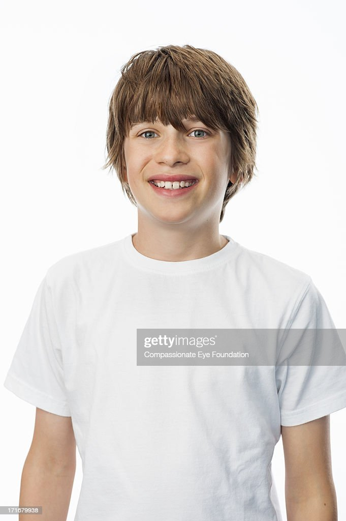 Portrait of smiling boy (10-12)