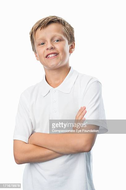 Portrait of smiling boy (10-12)