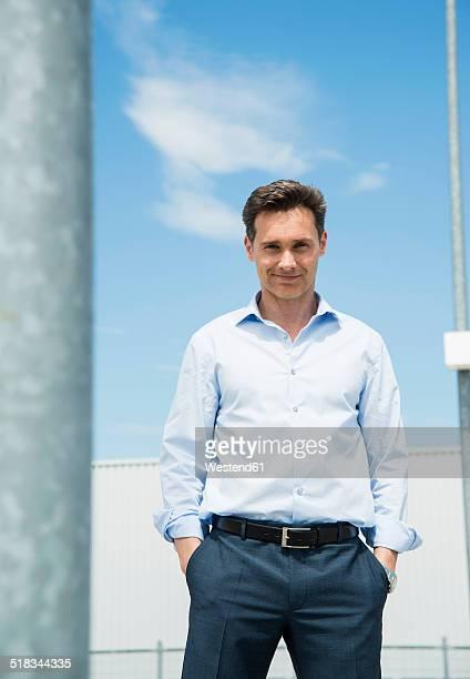 Portrait of smiling business man