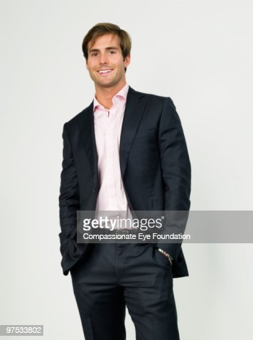 Portrait of smiling business man : Stock Photo