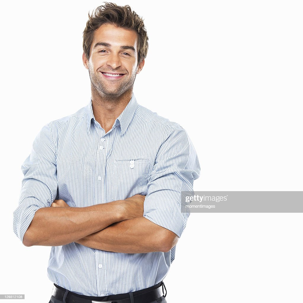 Portrait of smiling business man standing