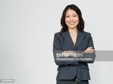 Portrait of smiling business woman : Foto de stock