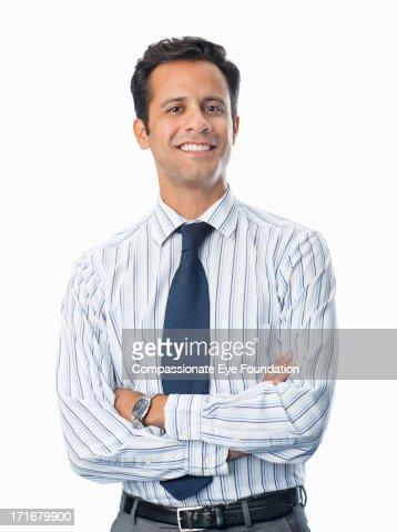 Portrait of smiling businessman : ストックフォト