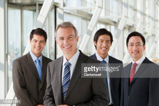 Portrait of smiling businessmen