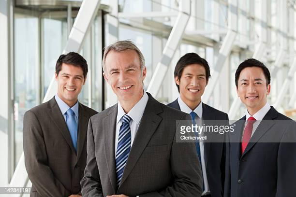 Porträt von lächelnd Geschäftsleute