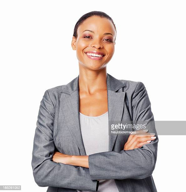 Portrait Of Smiling Businesswoman - Isolated