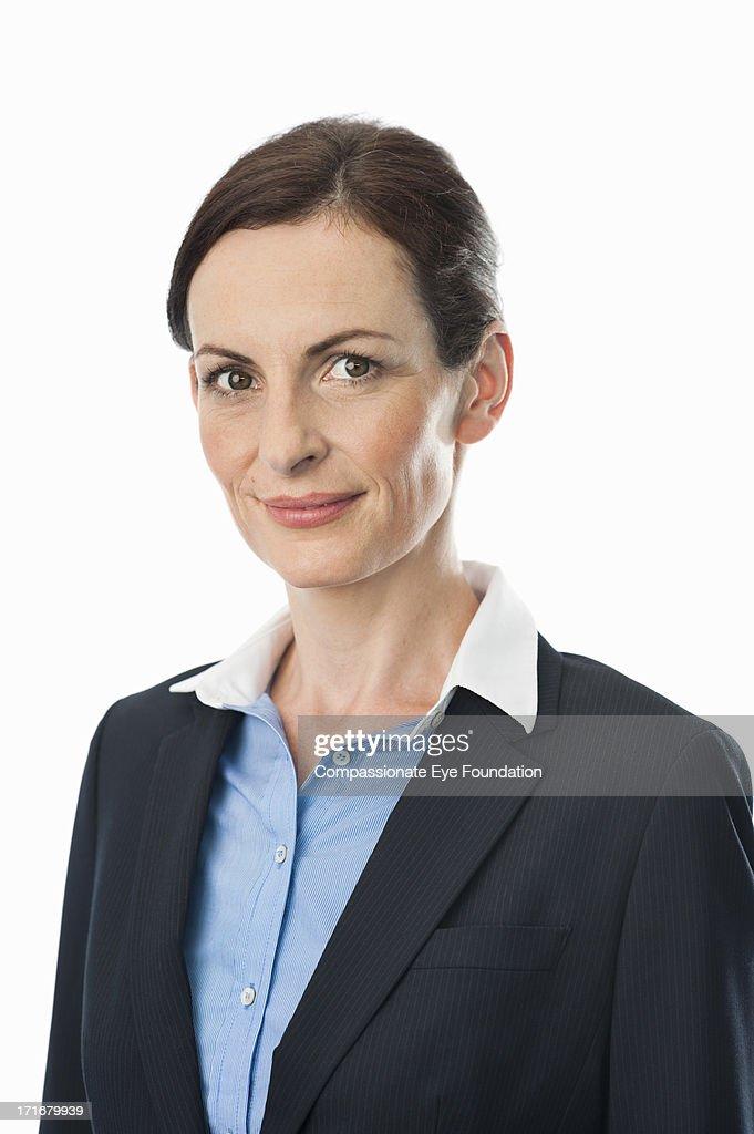 Portrait of smiling businesswoman : Stock Photo