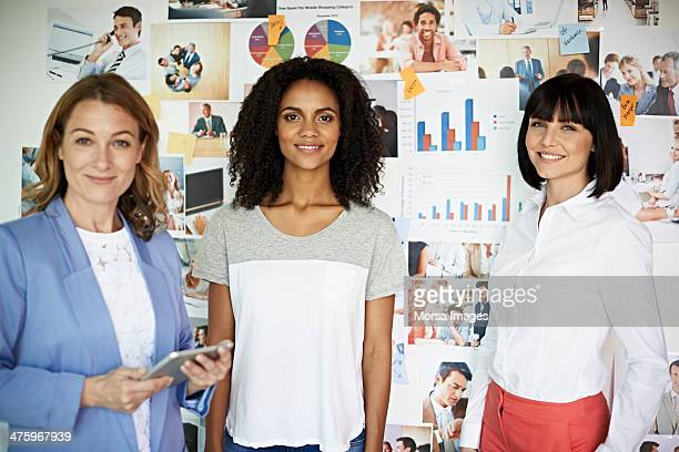 Portrait of smiling businesswomen