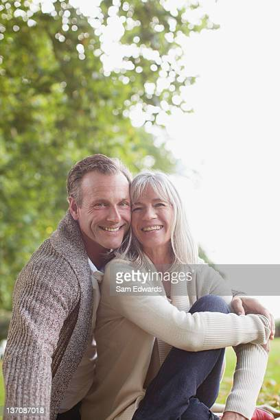 Portrait of smiling couple in park