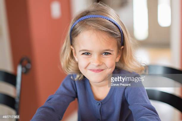 Portrait of smiling cute young girl