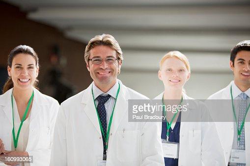 Portrait of smiling doctors : Stock Photo