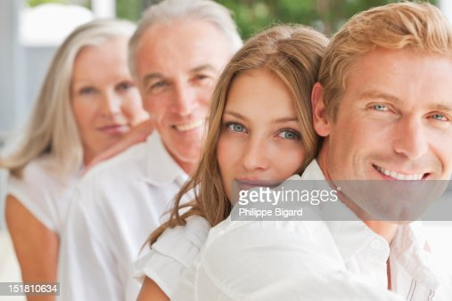 Portrait of smiling family : Stock Photo