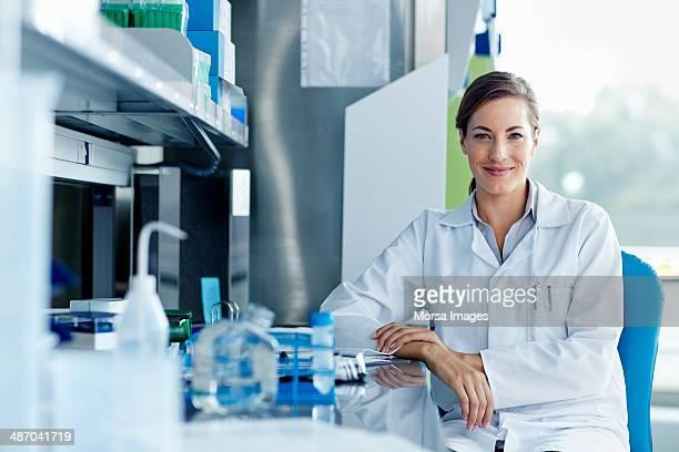 Portrait of smiling female scientists