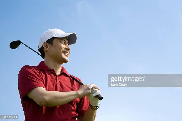 Portrait of Smiling Golfer