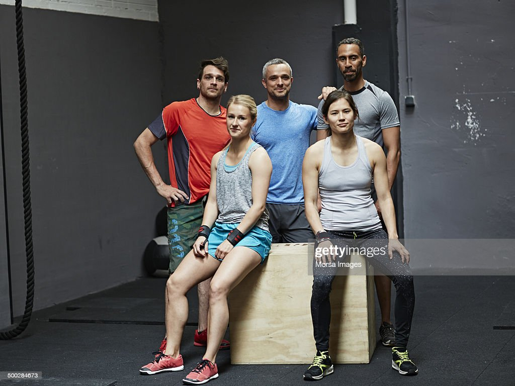 Portrait of smiling gymters