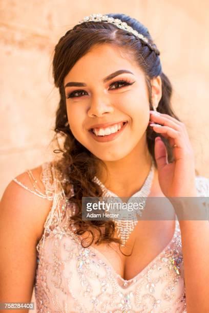 Portrait of smiling Hispanic girl