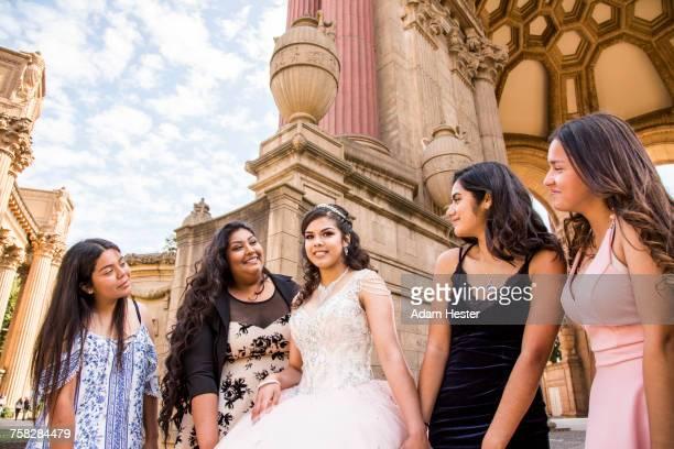 Portrait of smiling Hispanic girls