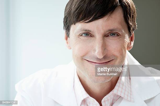 Portrait of smiling man in laboratory
