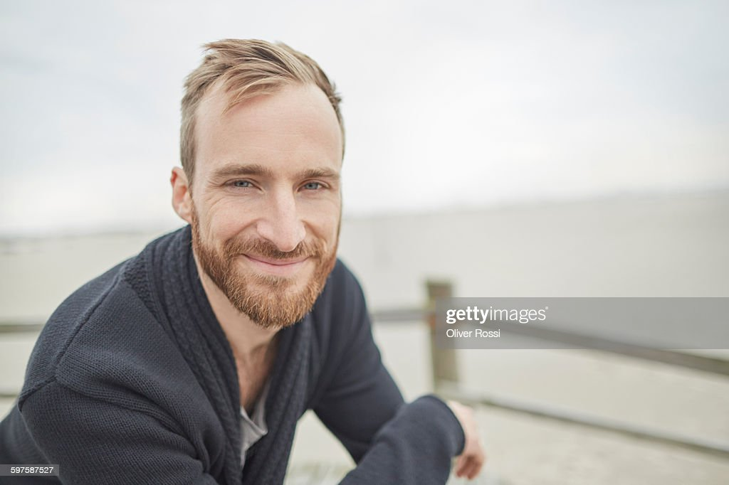 Portrait of smiling man outdoors