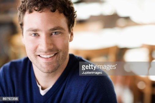 Portrait of smiling man : Stock Photo