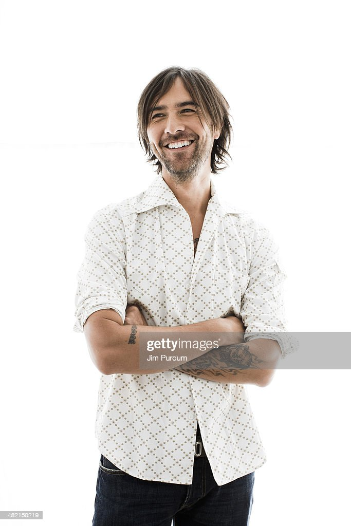 Portrait of smiling man with beard : Stock Photo