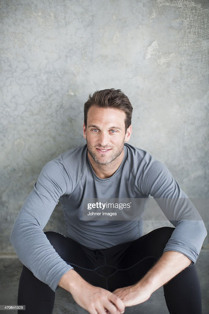 Portrait of smiling mid adult man