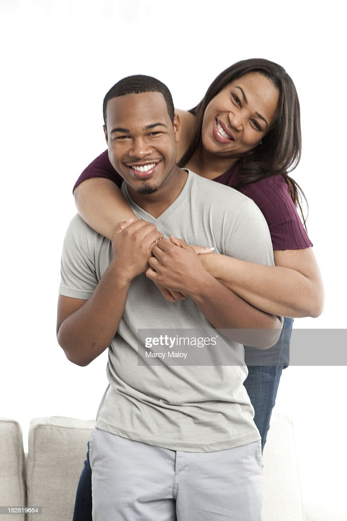 Portrait of smiling mother and son. : Stock Photo